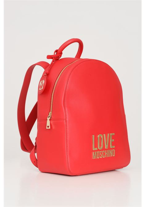 Red women's backpack with gold logo on the front love moschino LOVE MOSCHINO   Backpack   JC4109PP1C-LJ050A