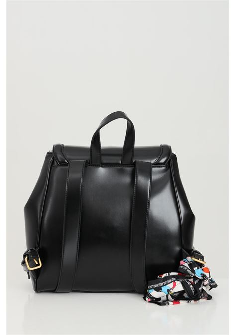 Black backpack in eco-leather. Closure with flap and magnetic button. Zip pocket and envelope pocket. Decorative button. Love moschino LOVE MOSCHINO | Backpack | JC4259PP0C-KK0000