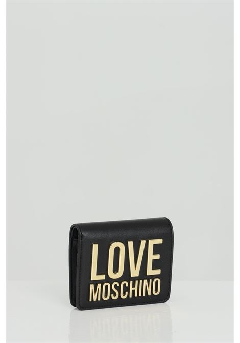 Wallet with metal logo lettering LOVE MOSCHINO | Wallet | JC5612PP1C-LJ000A