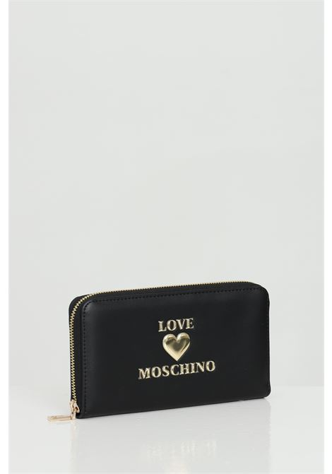 Wallet with light gold metal logo LOVE MOSCHINO | Wallet | JC5617PP1C-LF0000
