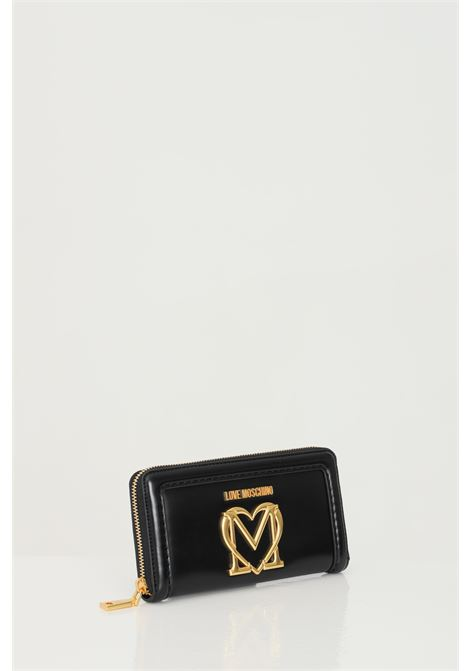 Black wallet with gold buckle. Love moschino LOVE MOSCHINO | Wallet | JC5634PP0C-KK0000