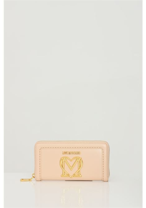 Pink wallet with gold buckle. Love moschino LOVE MOSCHINO | Wallet | JC5634PP0C-KK0107