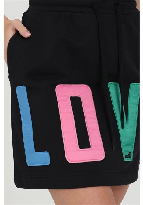 Gonna con molla in vita e maxi logo sul fronte LOVE MOSCHINO | Gonne | W155881M4266C74