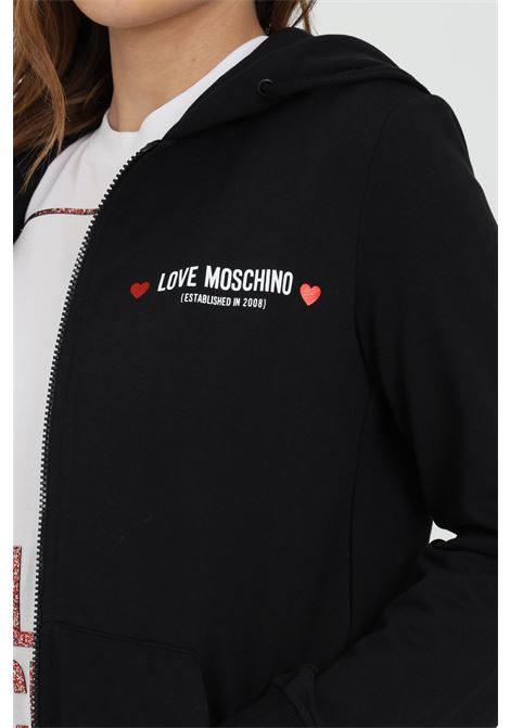Hoodie with front logo LOVE MOSCHINO | Sweatshirt | W333309E2180C74