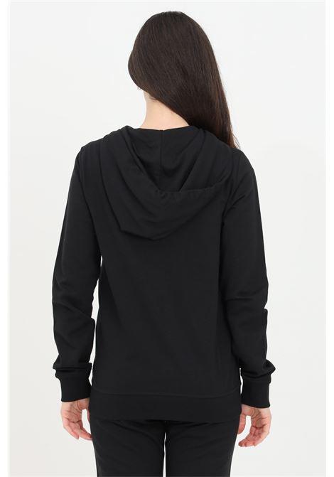 Felpa donna nero love moschino zip e cappuccio LOVE MOSCHINO | Felpe | W333311M4282C74