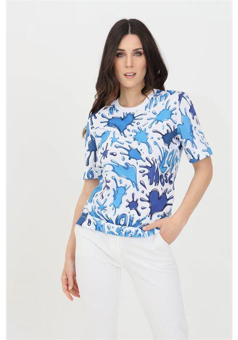 T-shirt donna multicolor azzurro love moschino a manica corta LOVE MOSCHINO | T-shirt | W4F1500M42830012