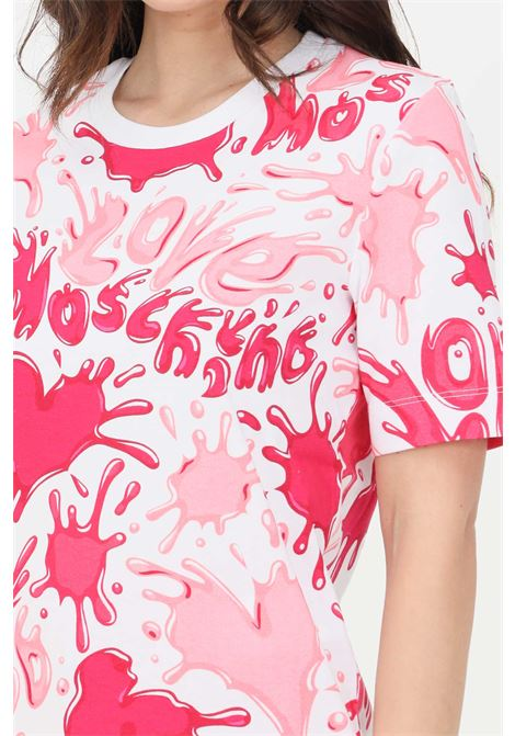 T-shirt donna multicolor rosa love moschino a manica corta LOVE MOSCHINO | T-shirt | W4F1500M42830013