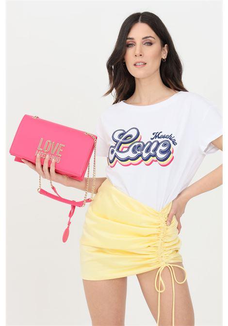 T-shirt donna bianco love moschino a manica corta LOVE MOSCHINO | T-shirt | W4F302GE1951A00