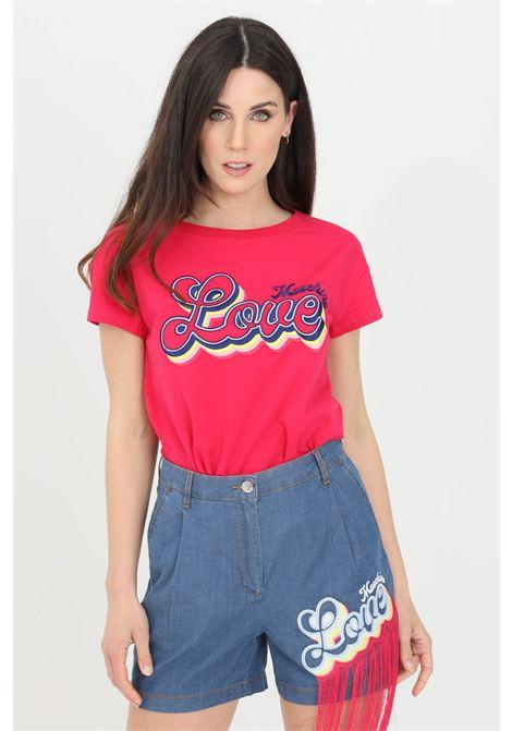 T-shirt donna fucsia love moschino a manica corta LOVE MOSCHINO | T-shirt | W4F302GE1951O49