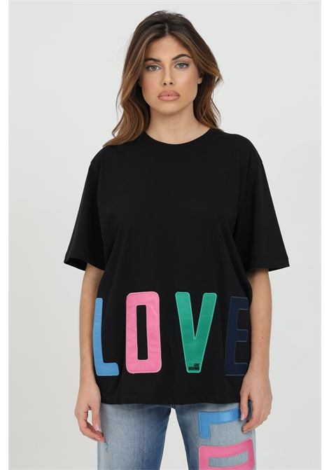 T-shirt con stampa logo multicolor LOVE MOSCHINO | T-shirt | W4F8783M3876C74