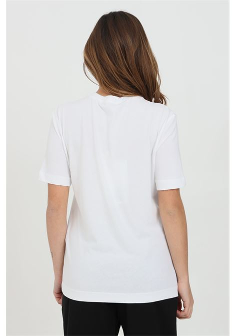 T-shirt donna bianco love moschino a manica corta con maxi stampa frontale LOVE MOSCHINO | T-shirt | W4H0605M3876A00
