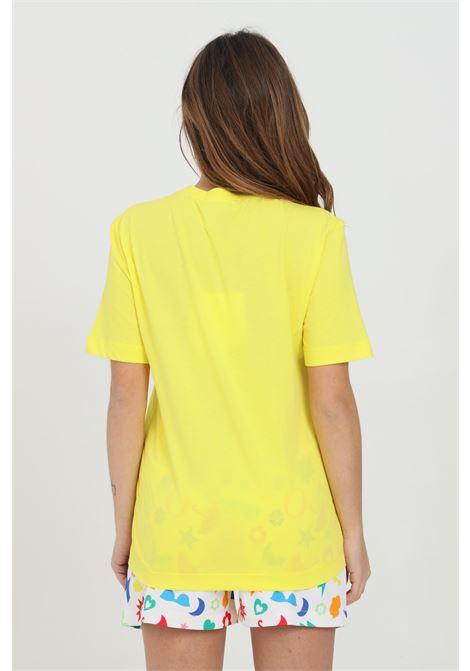 T-shirt donna giallo love moschino a manica corta con maxi stampa frontale LOVE MOSCHINO | T-shirt | W4H0605M3876H84