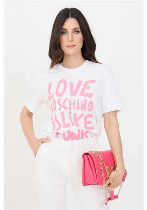 T-shirt donna bianco love moschino a manica corta LOVE MOSCHINO | T-shirt | W4H0610M3876A00