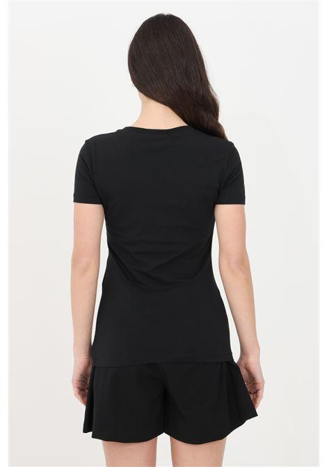 T-shirt donna nero love moschino a manica corta con stampa tropical frontale LOVE MOSCHINO | T-shirt | W4H1908E1951C74