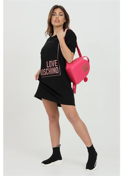 Dress with maxi logo on the front LOVE MOSCHINO | Dress | W592329E2180C74
