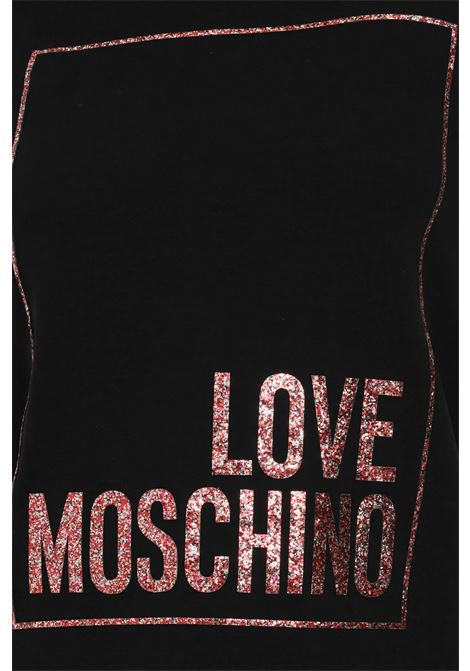 Black dress with maxi logo on the front. Love moschino LOVE MOSCHINO   Dress   W592329E2180C74