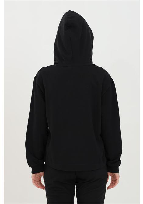 Black hoodie with front logo. Ribbed hems and straight bottom. Comfortable model. Love moschino LOVE MOSCHINO   Sweatshirt   W643701E2180C74