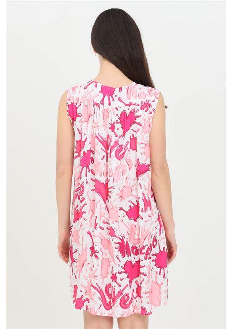 Abito donna rosa love moschino corto modello camicia LOVE MOSCHINO | Abiti | WCE1100T110A0013