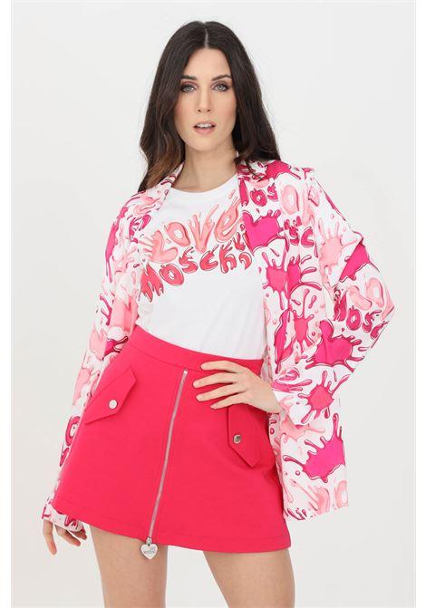 Giacca donna multicolor rosa love moschino LOVE MOSCHINO | Giacche | WI80700T110A0013