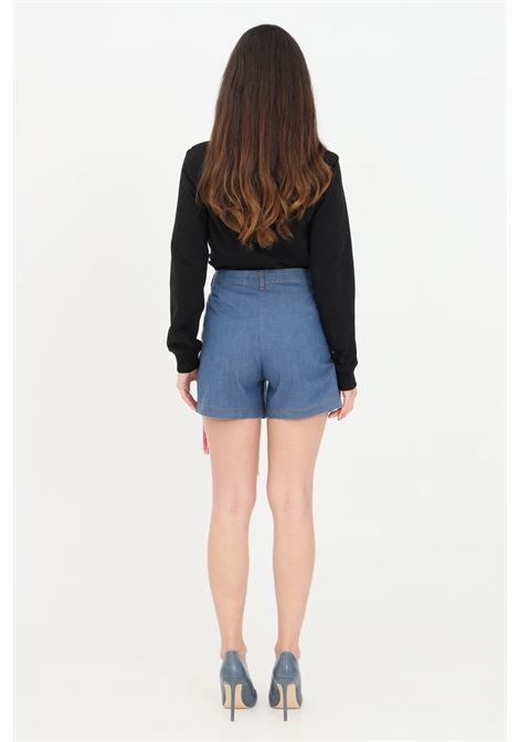 Denim casual shorts with fringes. Love moschino   LOVE MOSCHINO | Shorts | WO14502S3534055E