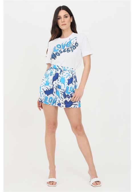 Multicolor blue shorts with love moschino splash  LOVE MOSCHINO | Shorts | WO15780T110A0012
