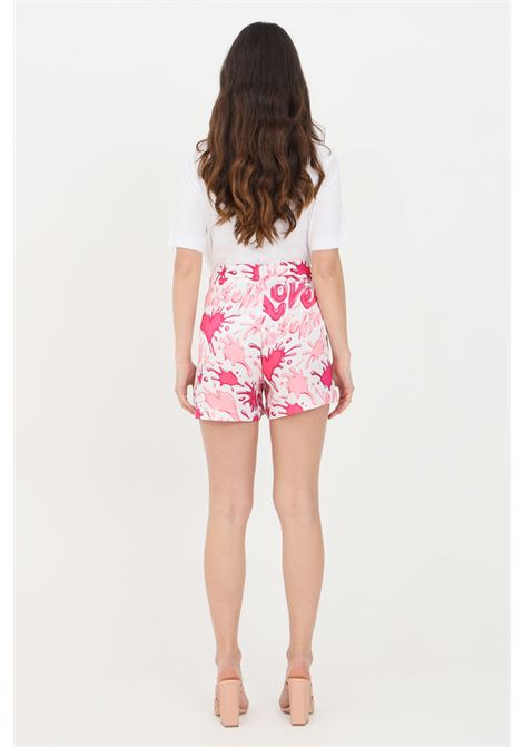 Multicolor pink shorts with love moschino splash LOVE MOSCHINO | Shorts | WO15780T110A0013