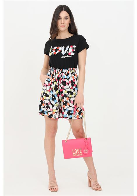 Multicolor casual shorts. Love moschino LOVE MOSCHINO | Shorts | WO16501T109A0014