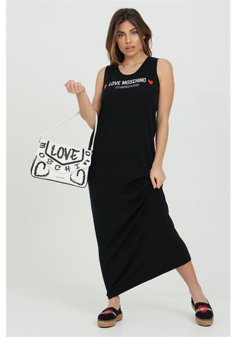 Long dress with front print LOVE MOSCHINO | Dress | WS43R10X1409C74