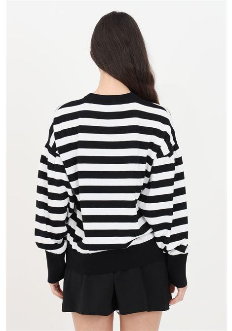Maglia donna nero striped love moschino girocollo LOVE MOSCHINO | Maglieria | WS63G10X1404C74