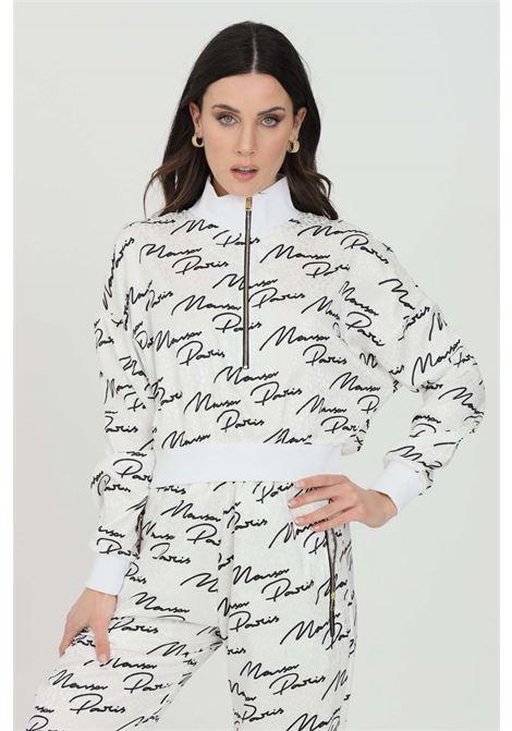 Sweatshirt with silver spotted print and contrasting logo pattern MAISON 9 PARIS | Sweatshirt | M9FM4136NERO