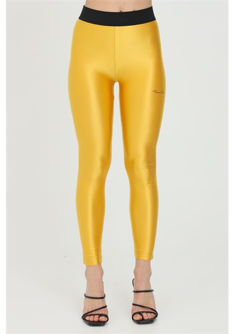 Solid color leggings and elastic waistband in contrast MAISON 9 PARIS | Leggings | M9FP662GIALLO
