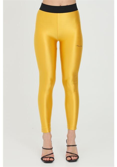 Yellow leggings in solid color with elastic waistband. Maison 9 paris  MAISON 9 PARIS | Leggings | M9FP662GIALLO
