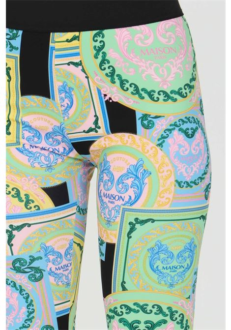 Leggings with allover print and elastic waistband in contrast MAISON 9 PARIS | Leggings | M9FP667.
