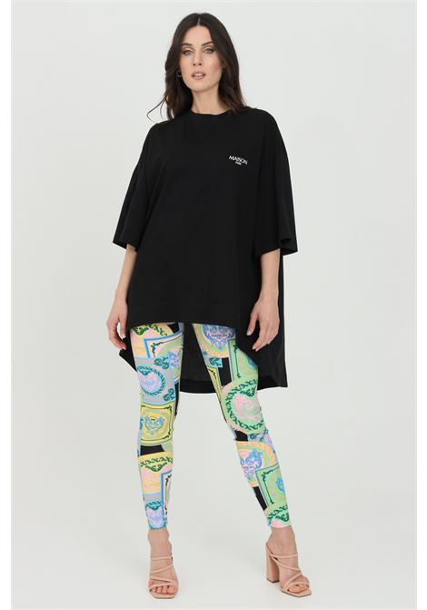 Multicolor leggings with allover print and elastic waistband in contrast. Maison 9 paris MAISON 9 PARIS | Leggings | M9FP667.