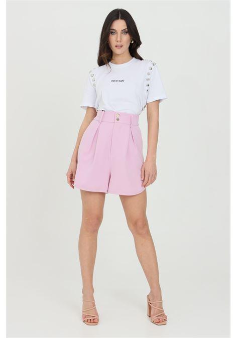 Pink shorts with side pockets, elegant model. Maison 9 paris MAISON 9 PARIS | Shorts | M9FS542GLICINE