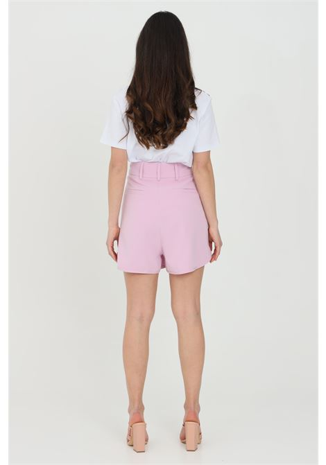 Shorts in solid color with side pockets and closure with zip and gold buttons MAISON 9 PARIS | Shorts | M9FS542GLICINE