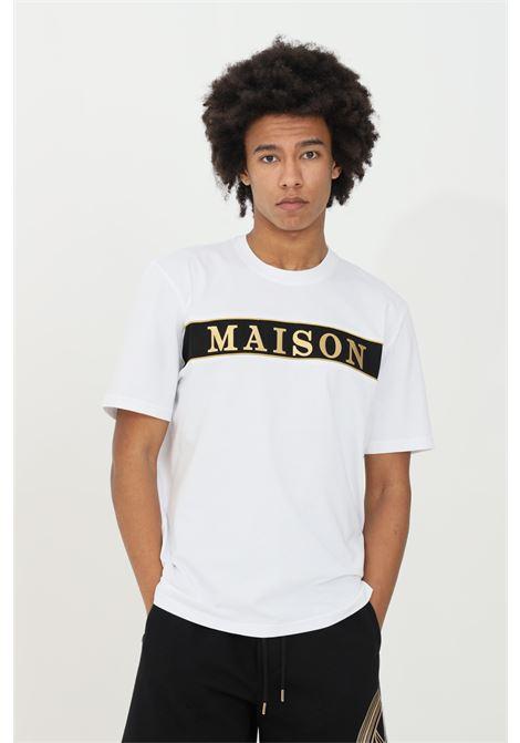 T-shirt with lettering applications MAISON 9 PARIS | T-shirt | M9M2242BIANCO-ORO