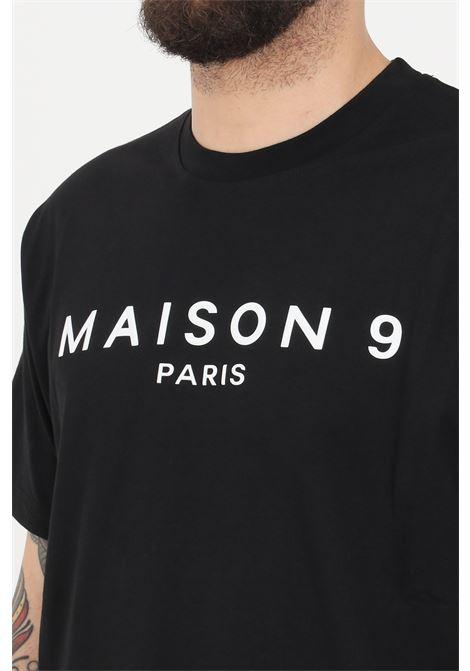 T-shirt uomo nero maison 9 paris a manica corta MAISON 9 PARIS | T-shirt | M9M2257NERO/BIANCO