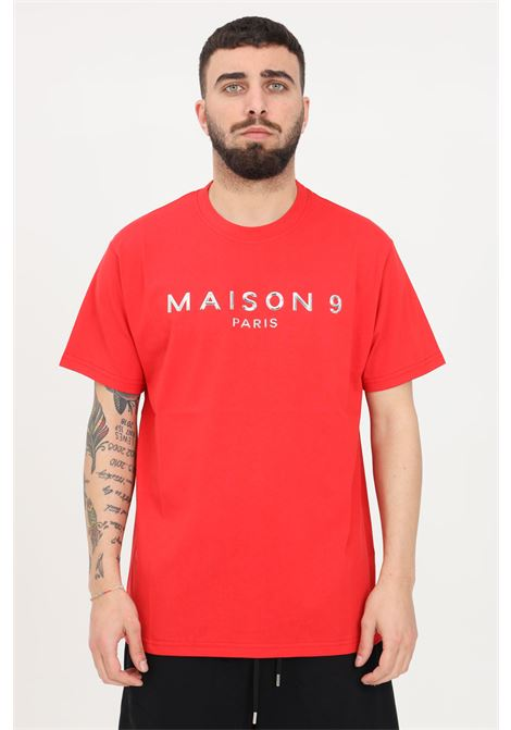 T-shirt uomo rosso maison 9 paris a manica corta MAISON 9 PARIS | T-shirt | M9M2257ROSSO
