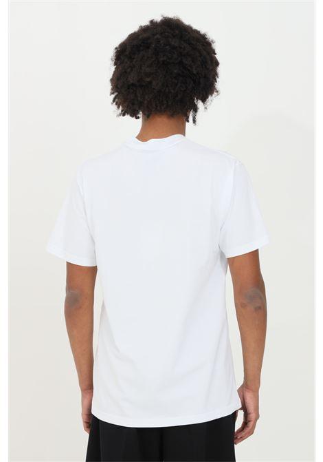 T-shirt with silver patch on the front MAISON 9 PARIS | T-shirt | M9M2261BIANCO-ARGENTO