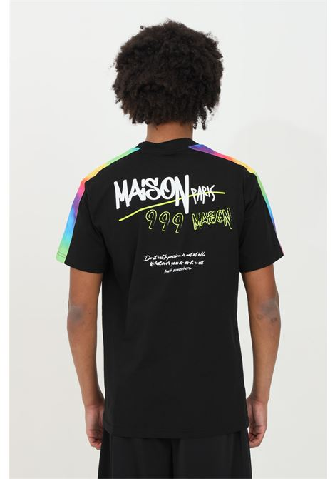 Crew neck T-shirt with silicone applications MAISON 9 PARIS | T-shirt | M9M2264NERO
