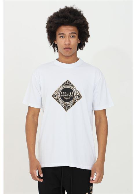 T-shirt with gold print MAISON 9 PARIS | T-shirt | M9M2266BIANCO-ORO