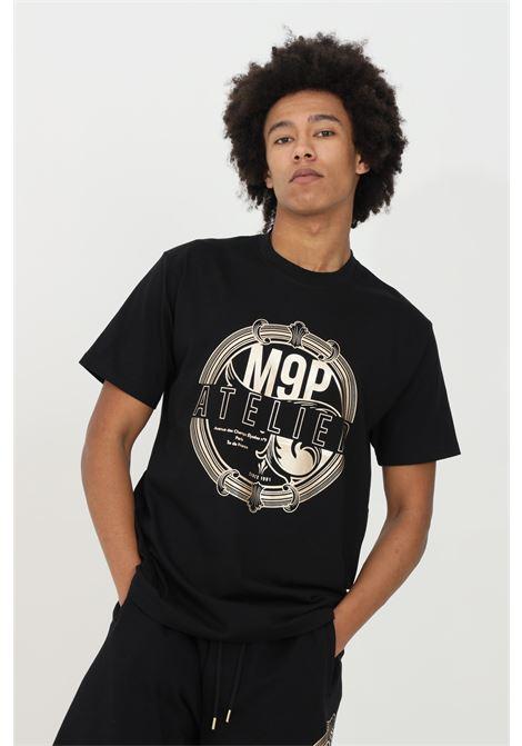 Round neck Dunstan river T-shirt MAISON 9 PARIS | T-shirt | M9M2267NERO-ORO