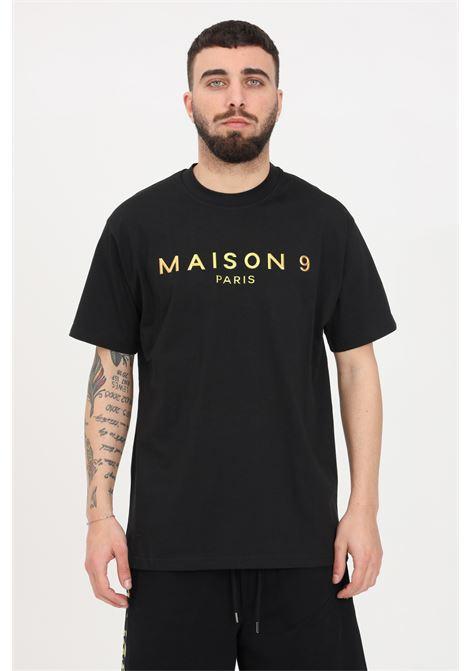 T-shirt uomo nero maison 9 paris a manica corta MAISON 9 PARIS | T-shirt | M9M2276NERO-BRONZO