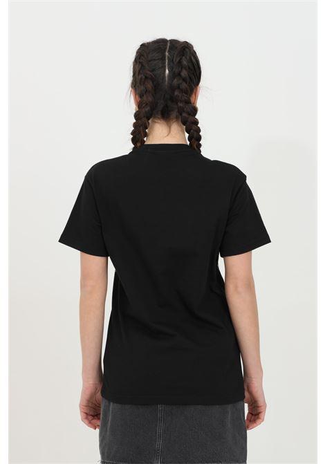 Black t-shirt with short sleeves and metal fringes and glitter. Maison 9 paris MAISON 9 PARIS | T-shirt | M9M4144NERO