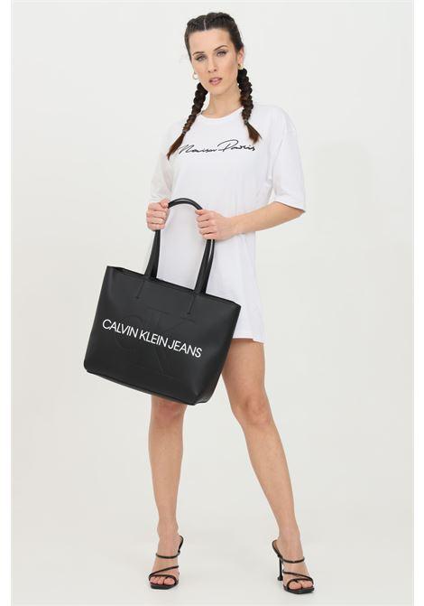 Short dress with glitter MAISON 9 PARIS | Dress | M9M4159BIANCO-NERO