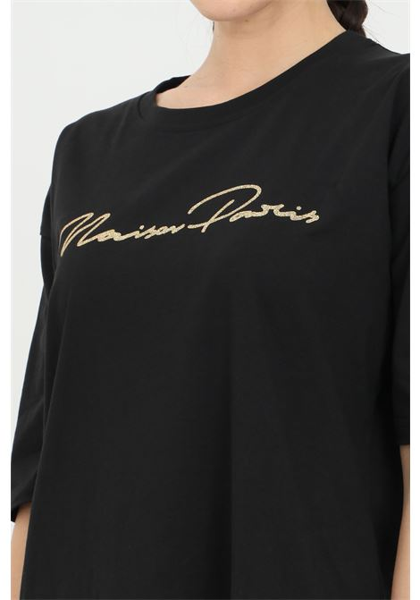 Short dress with glitter MAISON 9 PARIS | Dress | M9M4159NERO-ORO