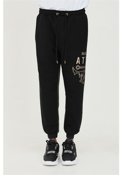 Trousers with elastic waist and gold edge 