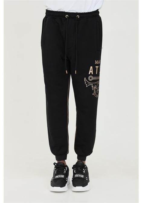 Trousers with elastic waist and gold edge  MAISON 9 PARIS | Pants | M9P4104NERO