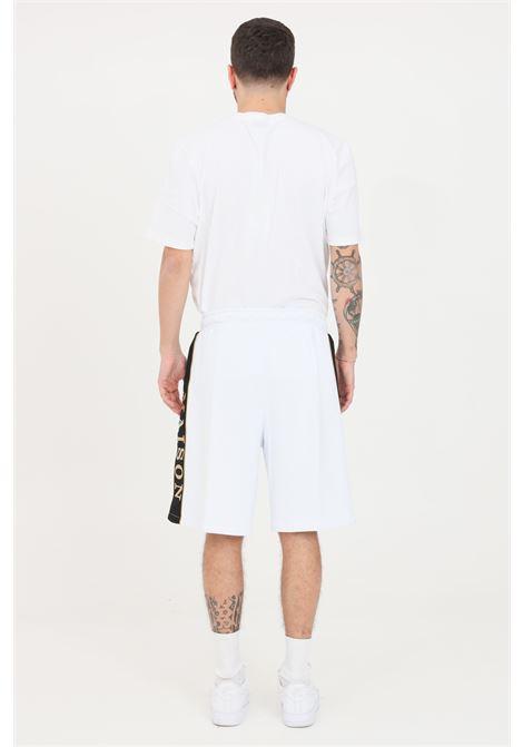 White casual shorts with side logo lettering. Maison 9 paris MAISON 9 PARIS | Shorts | M9S5065BIANCO-ORO